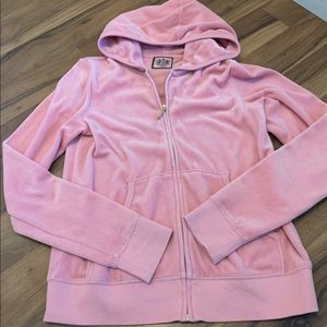Juicy Couture light pink velour Zip Hoodie